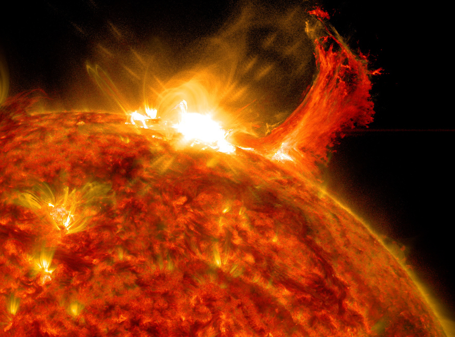 Flares Challenge Habitability of Bodies beyond Earth